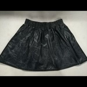BCBGeneration Black Vegan Leather Skirt